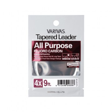 VARIVAS All Purpose Fluorocarbon Tapered Leader przypon koniczny muchowy