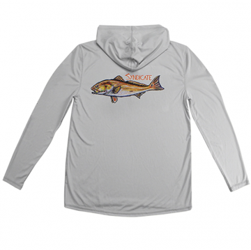 Koszula bluza z kapturem Syndicate Redfish Gray Solar Hoody