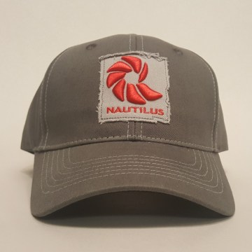 Czapka z daszkiem wędkarska Nautilus Reels Logo Hat Tested on Animals (Charcoal Grey)