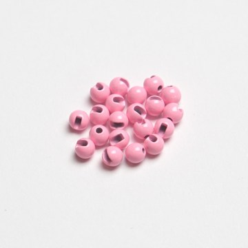 Główki wolframowe slotted fluo light pink 3.0 mm 20 szt. tungsten beads