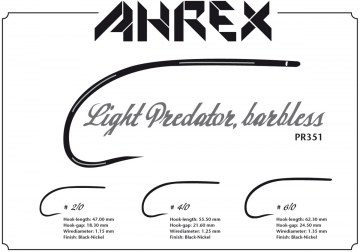 PR351 Light Predator barbless Ahrex haki muchowe