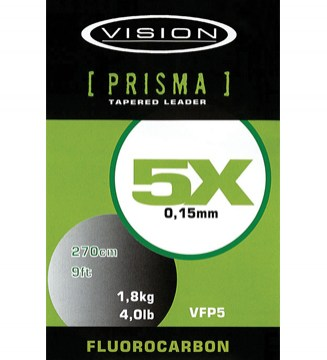 Przypon koniczny muchowy Prisma Fluorocarbon Tapered leader Vision